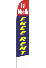 1st Month Free Rent Feather Flag