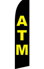 ATM (Black/Yellow) Feather Flag