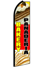 BAKERY PANADERIA Feather Flag
