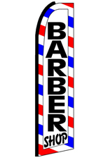 BARBER SHOP (Border) Feather Banner FlagFlag