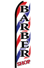 Barber Shop Feather Flag Feather Flag