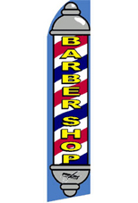 BARBER SHOP (Pole) Feather Banner Flag