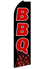 BBQ (Flames) Feather Flag