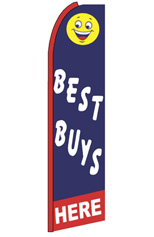 Best Buys Here Feather Flag