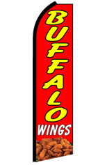 BUFFALO WINGS Feather Flag