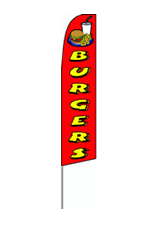 Burgers (Red) Feather Flag