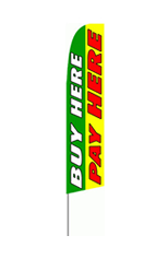Buy Here Pay Here Feather Flag