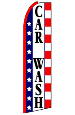 Car Wash (Stars & Stripes) Feather Flag
