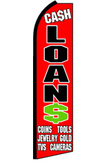 CASH LOANS Feather Flag