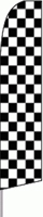 Checkered (Black/White) Feather Flag