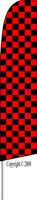 Checkered (Red/Black) Feather Flag