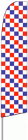 Checkered (Red, White & Blue) Feather Flag