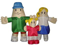 Custom Inflatable Family