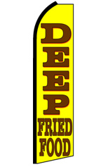 DEEP FRIED FOOD Feather Flag