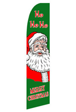 HO HO HO - Christmas Feather Flag