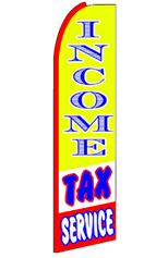 Income Tax Service Feather Flag (Yellow)