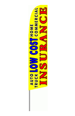 Low Cost Insurance (Yellow) Feather Flag
