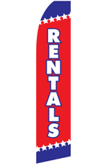 RENTALS Feather Flag