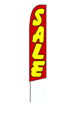 Sale (Red/Yellow) Feather Flag