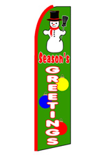 Season's Greetings Feather Flag