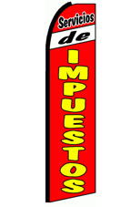 Servicios de Impuestos (Red/Yellow) Feather Banner Flag