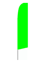 Solid Green Lime Feather Flag