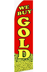 We Buy Gold (Coins) Feather Flag