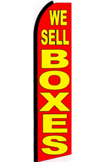 We Sell Boxes (Red/Yellow) Feather Flag