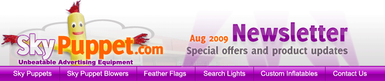 SkyPuppet.com August 2009 Newsletter