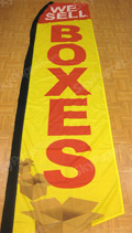 We Sell Boxes Custom Feather Flag